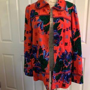 Anthropologie Size 10 Pink Corduroy Cotton Jacket